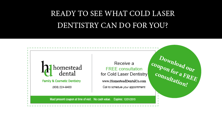 coupon for cold laser dentistry consultation