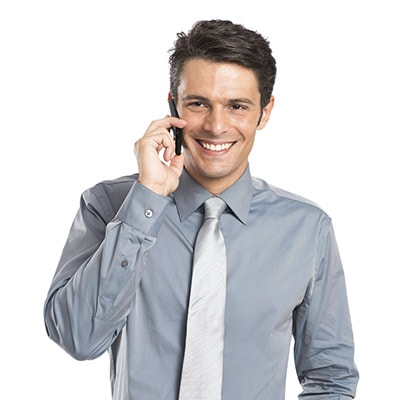 Dentist Highlands Ranch - man on phone smiling