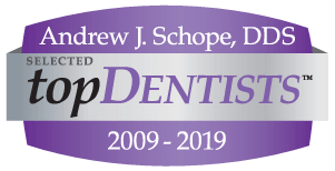 Top Dentist Award Badge for Andrew J. Shope, DDS selected from 2000 to 2019